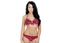 Striped Under wired Bikini Set