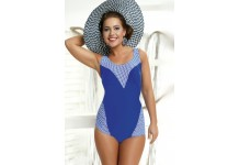 Flattering Ladies Swimsuit Swimming Costume with Contrast Print Pannel Feature