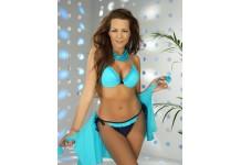 Ladies Frilly Underwired Halter Neck Padded Bikini Set