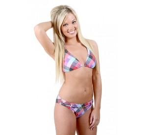Harlequin Check Bikini Set